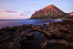 (sga77) Tags: monte cofano cornino custonaci trapani erice landscape travel sea rocks reflex mountain sky sunset