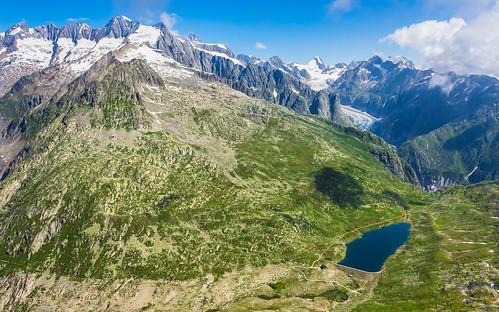 Grosser Wannenhorn (3906 m), Fieschergletscher, Vordersee