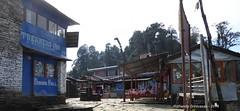 P1100991 At 12-10PM we reach Pitam-Deorali - a nice ridge spot with teahouse.... and a view towards Ghandruk one one side and towards Pokhara on other side! (ks_bluechip) Tags: nepal trek dec2016 annapurna abc mbc landruk tolga pitamdeorali pothana