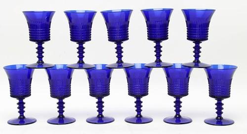 """Fenton """"Lincoln Inn"""" Cobalt Water Goblets ($156.80)"""