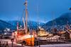 Tromsø (BasLoo) Tags: ship boat tug fishing port harbor harbour haven tromsø norway norge scandinavia blue hour pole night arctic cathedral orange lights light atmosphere mood photography canon eos 450d dslr tamron 18270mm f3563 di ii vc pzd