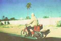 3120 (adnogstreets) Tags: midoum scooter soleil sun vélo bike tractor tracteur charette école school market marché moon lune desert hotel hostel