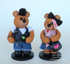 https://www.facebook.com/clayedfromtheheart/ (thedollydreamer) Tags: clayedfromtheheart clay polymerclay teddybear bear rockabilly punkrock whimsical art sculptures sculpey figurines handmade ooak oneofakind animals animal creations