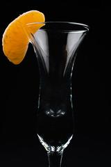 Mandarin (Scott Sz) Tags: orange mandarin cordial glass studio reflections fruit slice color cocktail