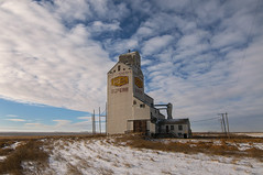 Superb Superb (Len Langevin) Tags: saskatchewan grainelevator ghosttown abandoned rural decay canada prairie winter clouds livingskies nikon d300s tokina 1116