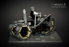 Wolfmüller IV - Tesla series steamtricycle - rear view (adde51) Tags: adde51 lego steampunk moc tricycle vehicle motorcycle cb wheel npu