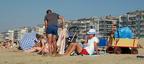Sur la plage de Koksijde (Coxyde) Belgium