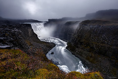 The Mighty Foss (CResende) Tags: dettifoss waterfall iceland travel mighty water power canyon progrey d810 nikon 1635 cresende landscape flow clouds dark