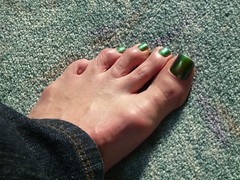 Happy St. Patty's Day! (toepaintguy) Tags: male guy men man masculine boy nail nails fingernail fingernails toenail toenails toe foot feet pedi pedicure sandal sandals polish lacquer gloss glossy shine shiny sexy fun daring allure gorgeous green st saint patrick color changer ilnp shimmer