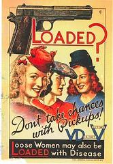 25 mkpeters (Rocky's Postcards) Tags: vintage propoganda vd venerealdisease healthwarning wwii gun prostitutes postcard mkpeters