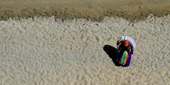 [ Amico di spiaggia - Beach friend ] DSC_0872.3.jinkoll (jinkoll) Tags: street people man walking above selling pedlar peddler pitchman sand beach foreshore colors hat tropea calabria towels