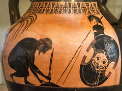 "Aithiopis X – Ajax Suicide by Exekias (egisto.sani) Tags: boulognesurmer exekias figurenere vasi aithiopis aethiopis ajax aiace suicide suicidio ""troy war"" ""guerra di troia"" pottery ceramica ceramics clay attic attica vulci etruria ""black figure"" ""figure nere"" amphora anfora greek greca vessel pot ""boulogne sur mer"" musée museo museum"