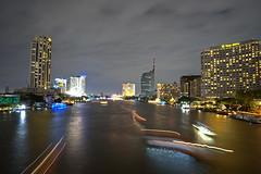 Chao Praya, Bangkok (tarikabdelmonem) Tags: bangkok bkk chaopraya thailand longexposure night boattrails
