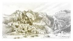 Rougon - Provence - France (guymoll) Tags: rougon provence france croquis skech crayon bic sepia sépia village