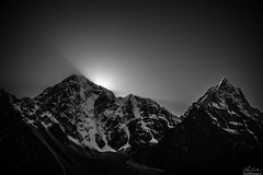 Evening Sunbeams, Pheriche, Nepal (owenweberlive) Tags: nepal everest basecamp tengboche dingboche himalayas himalaya mountains hiking hikers landscape landscapes earth nature mount mt asia asian travel vacation trek trekking nacho bazar bazaar climb climbing blackwhite sunbeams