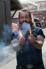 Sid Liberty, Columbia, MO. (arterial spray) Tags: portrait green tattoo fun liberty alley mid
