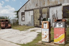 As best we could back then (dangr.dave) Tags: oklahoma car architecture downtown historic warehouse oldcar ok ardmore gaspumps conoco