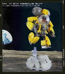 EVA Rescue Specialist (-=Steebles=-) Tags: lego micro moc microspace microscale microspacetopia