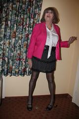 new69663-IMG_9846t (Misscherieamor) Tags: tv feminine cd motel tgirl transgender mature sissy tranny transvestite crossdress ts gurl tg travestis travesti travestie m2f xdresser tgurl silkblouse bowblouse polkadotminiskirt