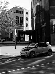 Future vehicle (sandor.csincsik) Tags: street city trip urban blackandwhite bw modern style future bmw dortmund i3 varos hibrid bmwi3