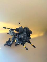 Orbez F2 - Low Grabity Mech (flight mode) (SuperHardcoreDave) Tags: lego low flight gravity walker fantasy weapon future scifi mecha mech moc biped