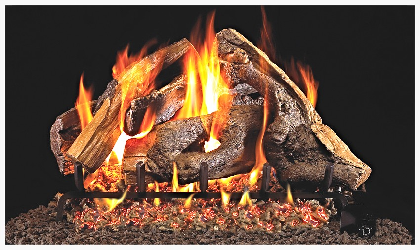 Peterson Woodstack gas log set