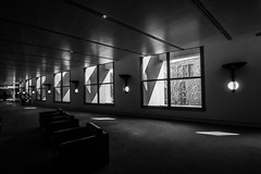 Letting it in (arnabjosephite) Tags: blackandwhite white black building lights shadows australia parliament symmetry canberra bnw perfection parliamentbuilding