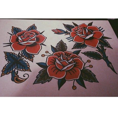 Rose Bombs Tattooflash Roses Rose Rosetattoo