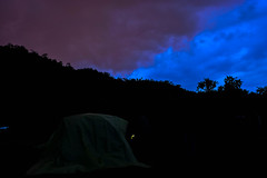 Dos (Cristian Rh) Tags: blue sunset camp mountains tree landscape colombia manizales violet dos silueta siluet sjy