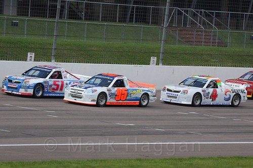 Freddie Lee, Gavin Murray and Pete Stevens in Pick Up Truck Racing, Rockingham, Sept 2015