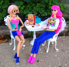 Rosalie & Peony in Fab #2 (Bridget_John316) Tags: life pink roses fab cookies fashion set garden barbie fields mrs steffie dreamhouse tarina tarantino tokidoki miworld