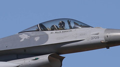 ROCAF Lockheed F-16A Block 20 Fighting Falcon 93-0709 (ChrisK48) Tags: airplane aircraft taiwan f16 lukeafb lockheedmartin gamblers generaldynamics luf fightingfalcon glendaleaz 3709 block20 kluf republicofchinaairforce lockheedf16a 21stfightersquadron cnta8 usaf930709