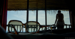 DSC00746.jpg (Vaajis) Tags: woman sunglasses silhouette thailand asia balcony kohtao bungalow