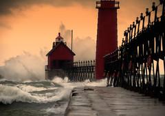 November Storm (paulh192) Tags: november autumn lighthouse nature pier nikon waves michigan sigma lakemichigan greatlakes storms winds grandhaven