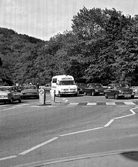 Derbyshire. Matlock Bath. 1970s. (pszz) Tags: bedford morris1100 twotoneairhorns