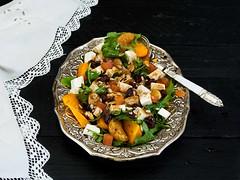 Ensalada ECO saludable (Frabisa) Tags: salad tangerines persimmons honey miel ensalada mandarinas arugula vinaigrette caquis vinagreta rcola