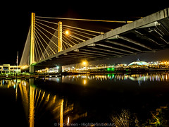 509-Bridge-Reflection-Foss-Waterway-11-27-2015 (Rob Green - SmokingPit.com) Tags: city bridge blue light sky beach water skyline architecture night clouds speed reflections lens landscape photography reflecting golden bay harbor washington thea slow waterfront nocturnal purple angle outdoor vibrant south awesome wide landmark olympus calm historic landing reflect maritime shutter boating boardwalk wa waters pugetsound tacoma bluehour commencement streaks foss ultra brilliant nocturne waterway saltwater omd 509 10mm robgreen em10 rokinon