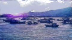 Bertioga's sea (♣Cleide@.♣) Tags: sea brazil seascape art digital boats photo filters shining 2015 bertiogasp artdigital sotn awardtree exoticimage ♣cleide♣ netartii ps6cs