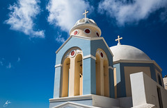 The cult (stefanocaccia61) Tags: church nuvole santorini grecia cielo icone religione crocefisso
