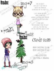 DISPLAY4 (Lizzy Love ♥ Oddball Art Co.) Tags: santa christmas cute eye art love reindeer cards big holidays paintings hats creepy antlers elf fox kawaii greeting bats lizzy 2015 oddballart