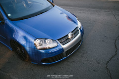Depot20 (alpinesman) Tags: blue car vw golf volkswagen fuji ride 5 air racing gas r swap porsche fujifilm fujinon stance r32 deepblue bagged mk5 xt1 fujix supermade bigbrakes worldcars media143 xf35mm xf23mm xf56mm
