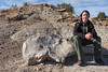 Jake on the bone (gstreech) Tags: colorado unitedstates dinosaur northamerica picketwirecanyon comanchegrassland troop870