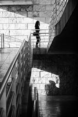 Stalked (zzra) Tags: shadow white black person mono ramp alone rail stalk