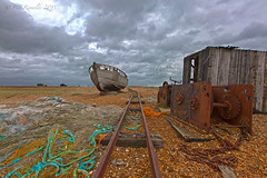 Grand Designs (Pete 5D......) Tags: wood old roof sea storm cold texture net beach lines metal clouds coast boat wooden kent tv fishing rust track low shingle perspective tracks rusty dramatic rail gear rope line chain pebble hut dungeness coastline shack rotten desolate plank leading corrugated dilapidated pannel sleeper uwa leadinglines granddesigns ultrawideangle bleepingcold