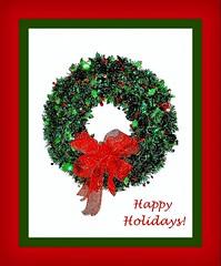 happy holidays 2 (milomingo) Tags: christmas red holiday green festive sketch text illustrated whitebackground wreath frame happyholidays decor onwhite greeting photoart a~i~a