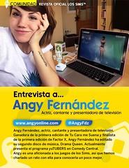 """Entrevista de Angy para la revista Oficial """"Los Sims"""""""