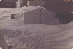 Drifts nearly covering a shed in Northglenn. (ThorntonWeather.com)
