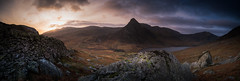 A time to look back.  (explore) (Gareth Mon Jones) Tags: wales snowdonia mountains sunrise
