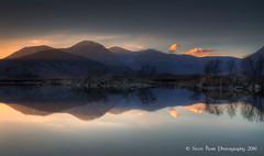 Pause for Reflection (silverlarynx) Tags: scotland highlands lochan na hachlaise reflections evening sunset dusk