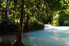 Luang Prabang (makingacross) Tags: laos pdr luang prabang luangprabang nikon d3000 louangphabang luangphabang phabang kuang si falls waterfall kuangsi kuangxi trees water blue
